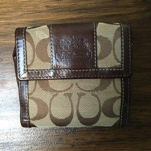 Brown Coach Signature C Wallet